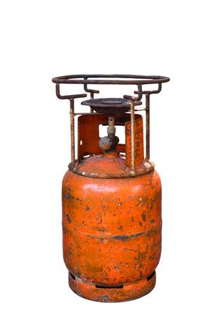 old gas stove: Old orange gas stove