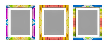 colorful frame: 3d rendered, colorful retro photo frame, isolated o white background