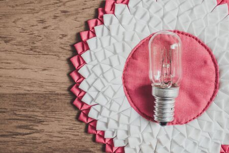metal filament: vintage tone, abstract retro light bulb
