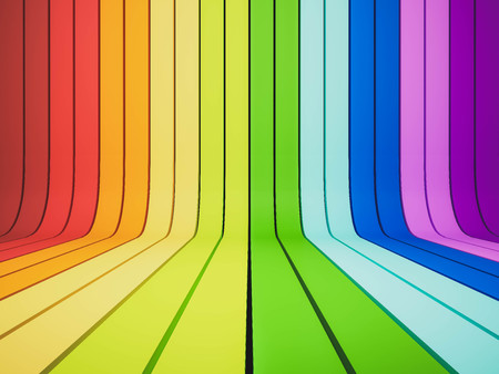 rainbow abstract: 3d rendered, abstract rainbow
