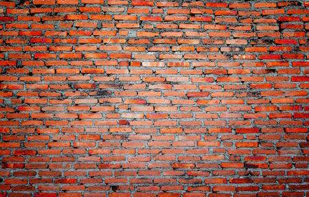 weathered: weathered red-orange brick wall texture