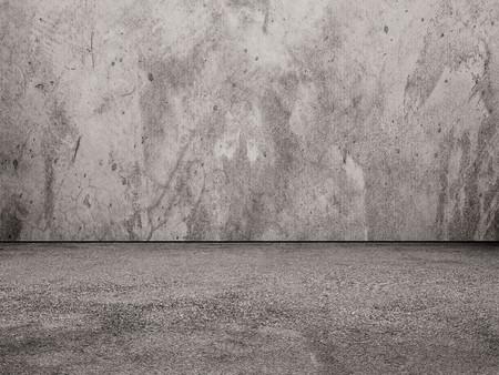hormig�n: Muro de hormig�n y el suelo