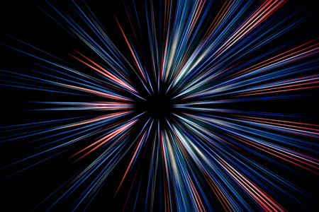 light speed: Abstract long exposure, speed lines motion Stock Photo