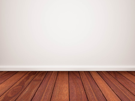 Wood floor with white wall