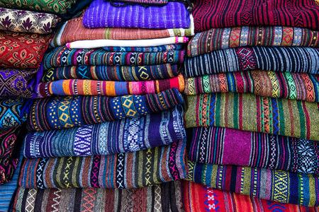 Colorful tradition Thai north silk colth
