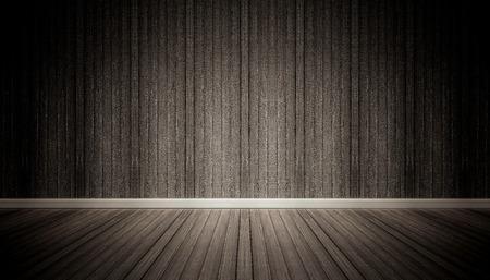 muro nero e pavimento spazio interno