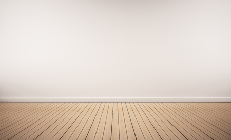 wood floor: Oak wood floor with white wall