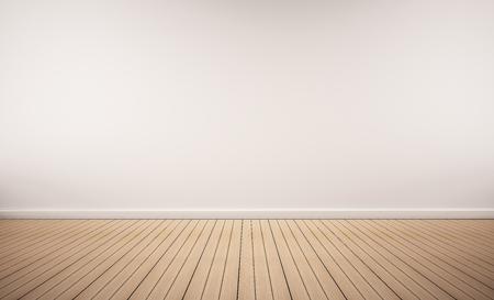podłogi z drewna dębowego z białej ścianie Zdjęcie Seryjne