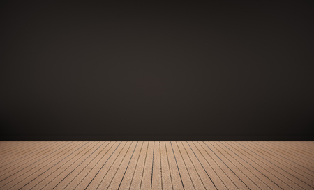 Oak wood floor with black wall