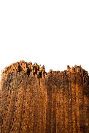 putrefy: Break wood, isolated on white background