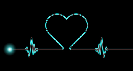 background patterns: Heart rate rhythm