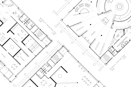 Abstracte architectuur grondplan