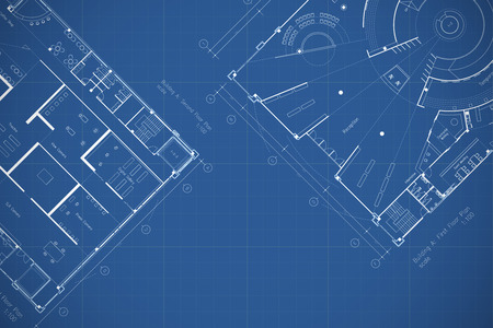 architectural plan: Architecture blueprint floor plan Stock Photo