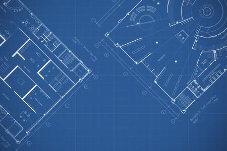 Architectuur blauwdruk plattegrond