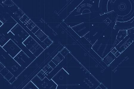 Architecture blueprint floor plan Foto de archivo