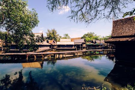 samutprakarn: Antique water market in thailand