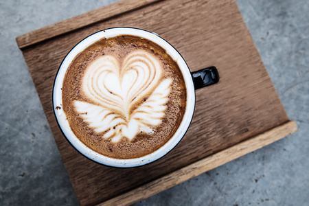 capacino: Hot coffee with beautiful coffee art