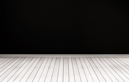 white wood floor: White wood floor with black wall