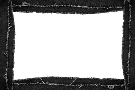 torn jeans: Black torn jeans picture frame with copy space Stock Photo