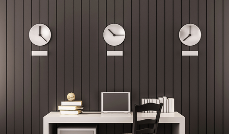 timezone: Business working space, 3d rendered Stock Photo