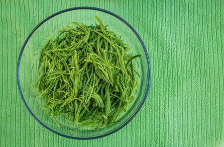 pennata: Top view Acacia pennata, in bowl, preparation for cook Stock Photo