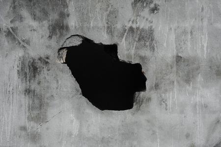 orifice: Cracked concrete texture with hole, concrete texture background