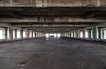 deserted: Large empty space of old deserted industrial Stock Photo