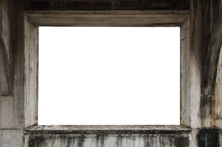 Old Concrete Window Frame, View From Interior, With White Copy ...