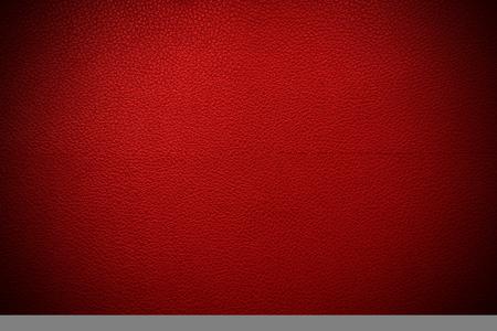 Texture de cuir rouge