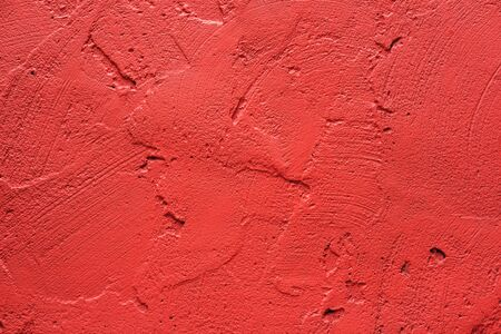 botch: Wall painted in retro vivid pink texture Stock Photo