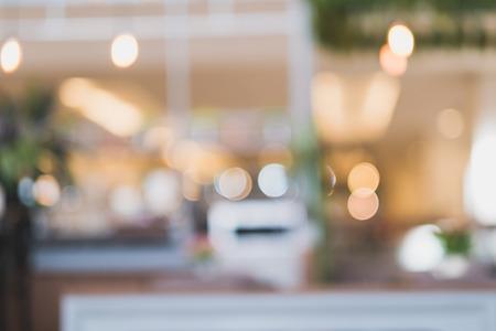 defocus: Blurred defocus with Bokeh light coffee shop