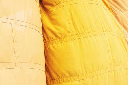 flutter: Yellow Buddhist monk robe flutter by wind Stock Photo