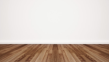 white wood floor: Wood floor with white wall
