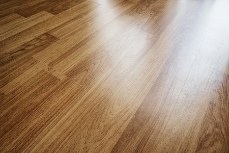 timber floor: Wood laminated floor texture with reflection light