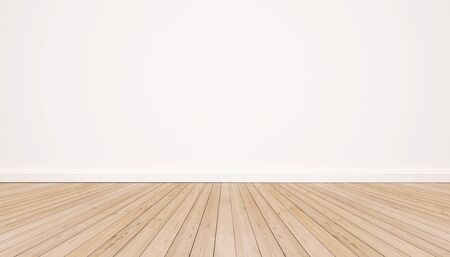 white wood floor: Oak wood floor with white wall