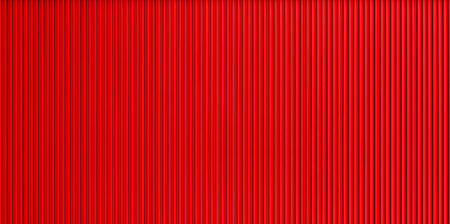 Red corrugated metal wall texture