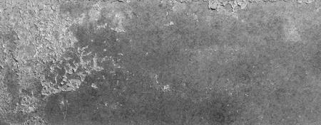 Old peeling painted metal texture, panoramic metal texture background