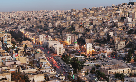 Amman cityscape, capital city in Jordan, Middle East