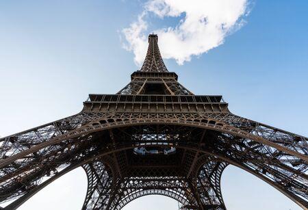 Eiffel Tower, famous landmark and travel destination in Paris, France Foto de archivo