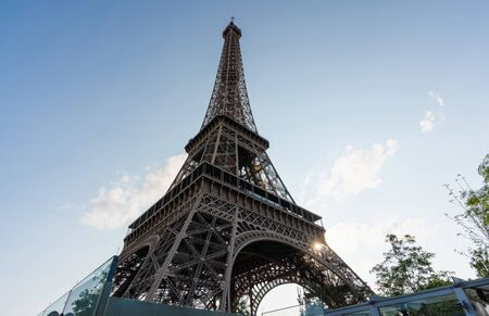 Eiffel Tower, famous landmark and travel destination in Paris, France