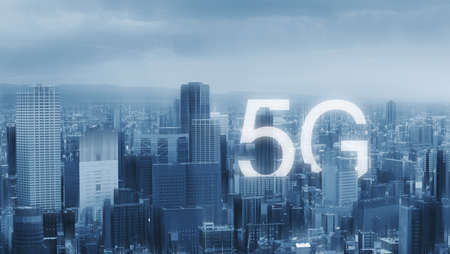 5g internet technology and network connection technology in the city