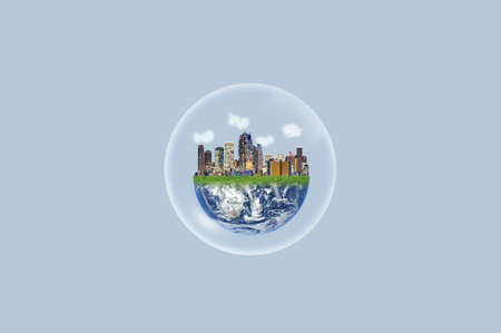 Eco friendly city, Environmental protection and ecosystem.