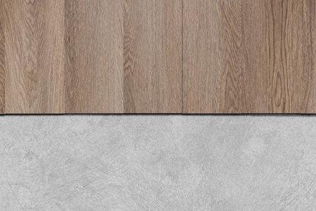 Wooden and concrete cement floor texture