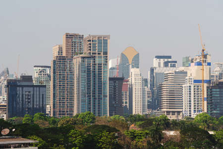 Modern buildings, business district in Bangkok city, Thailand
