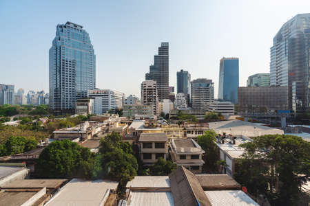 Bangkok cityscape, old and modern buildings in Thailand 版權商用圖片