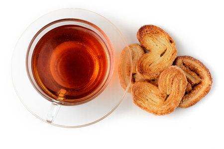 cup of tea isolated on white