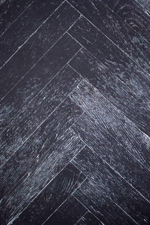Texture of old dark parquet as background, top view Stockfoto