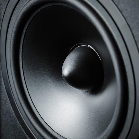 Close up of membrane sound speaker on black background Reklamní fotografie