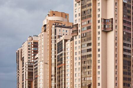 View of modern building in city landscape