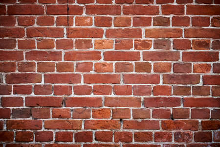 Red brick wall background. Old brick texture Stockfoto